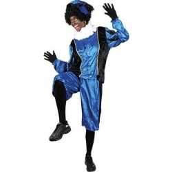 Verkleed pieten outfit zwart/blauwbaret carnaval volwassenen sinterkl