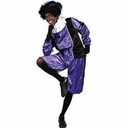 Verkleed pieten outfit zwart/paarsbaret carnaval volwassenen sinterkl