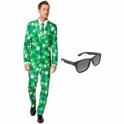 Verkleed sint patricks day print net heren outfit maat 52 (xl)gratis
