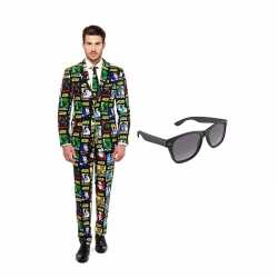Verkleed star wars print net heren outfit maat 46 (s)gratis zonnebril