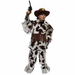 Verkleedkleding cowboy outfitkoeienprint carnaval kinderen