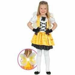 Verkleedkleding vlinder outfit geel