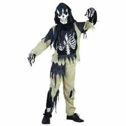 Zombie skeletten outfit kinderen