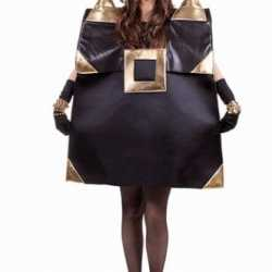 Zwarte handtas outfit carnaval dames