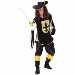 Zwartgoud musketiers outfit