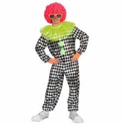 Zwartzilver clowns outfit carnaval heren